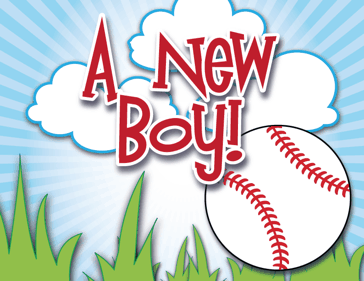 Printable Baseball Birth Announcement