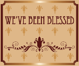 Printable We've Been Blessed Birth Announcement