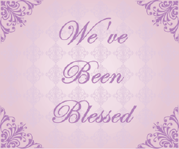 Printable We've Been Blessed Girl Birth Announcement