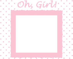Printable Oh Girl Photo Birth Announcement
