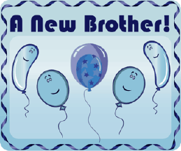 Printable New Brother Birth Announcement