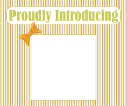 Printable Proudly Introducing Photo Birth Announcement-Stripes