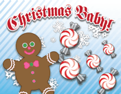 Printable Christmas Candy Birth Announcement